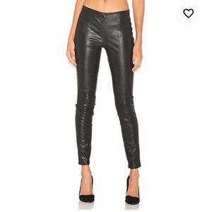 Faux Leather Pull-On Leggings